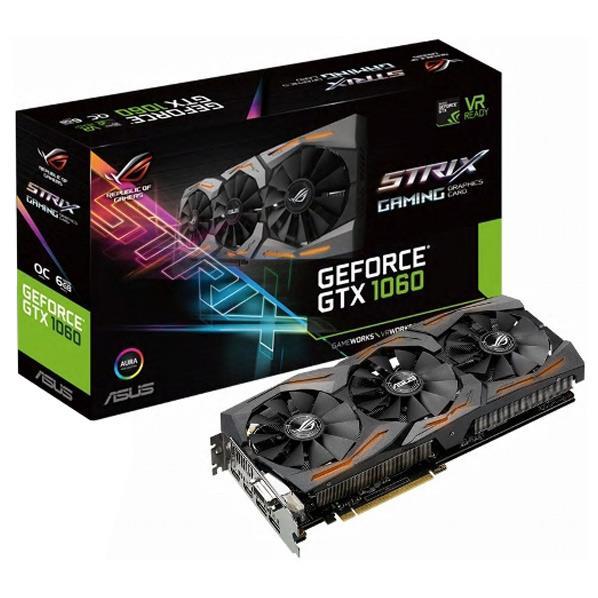 【送料無料】ASUSTEK NVIDIA GeForce GTX1060チップ搭載 GDDR5 6GB グラフィックカード ROG STRIXシリーズ STRIX-GTX1060-O6G-GAMING [STRIXGTX1060O6GGAMING]