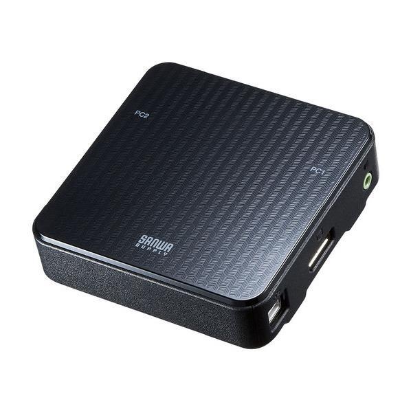 サンワサプライ DisplayPort対応手元スイッチ付きパソコン自動切替器(2:1) SW-KVM2WDPU [SWKVM2WDPU]