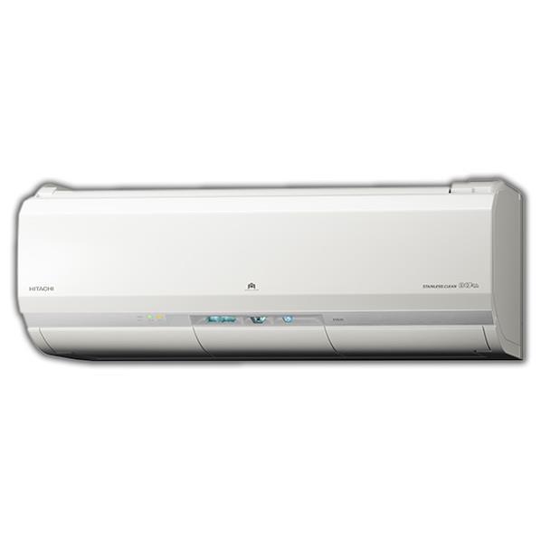 【標準設置工事費込み】日立 8畳向け 自動お掃除付き 冷暖房インバーターエアコン KuaL ステンレス・クリーン 白くまくん スターホワイト RASJT25GE5WS [RASJT25GE5WS]【RNH】