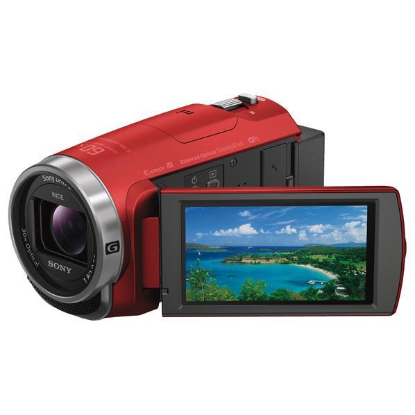 SONY 64GB内蔵メモリー デジタルHDビデオカメラレコーダー ハンディカム レッド HDR-CX680 R [HDRCX680R]【RNH】
