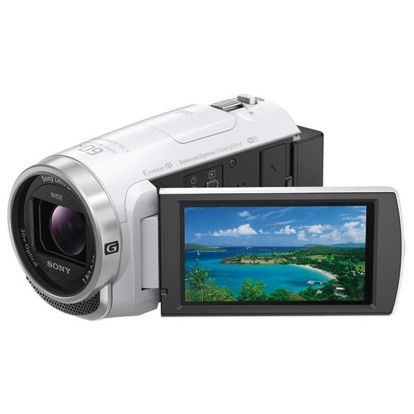 SONY 64GB内蔵メモリー デジタルHDビデオカメラレコーダー ハンディカム ホワイト HDR-CX680 W [HDRCX680W]【RNH】