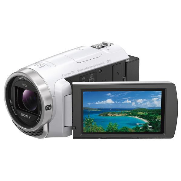 SONY 64GB内蔵メモリー デジタルHDビデオカメラレコーダー ハンディカム ホワイト HDR-PJ680 W [HDRPJ680W]【RNH】