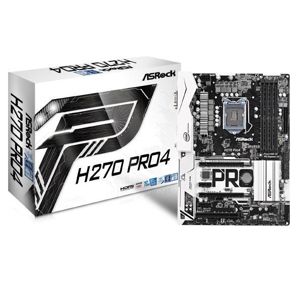 ASROCK H270チップセット ATX メモリ4スロット マザーボード H270 PRO4 [H270PRO4]【SYBN】