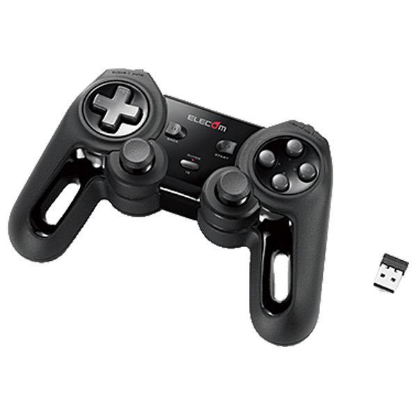 XInput 有名な DirectInput両対応で幅広いゲームが楽しめる 高耐久アナログスティックと高耐久ボタンを搭載した13ボタンワイヤレスゲームパッド エレコム ブラック JCU4113SBK 超高性能ワイヤレスゲームパッド 感謝価格 JC-U4113SBK