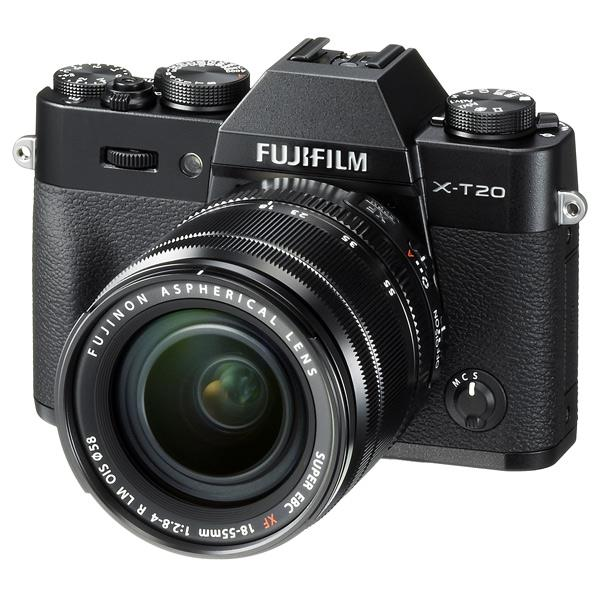 【送料無料】富士フイルム デジタル一眼カメラ・レンズキット Xシリーズ ブラック FX-T20LK-B [FXT20LKB]【RNH】