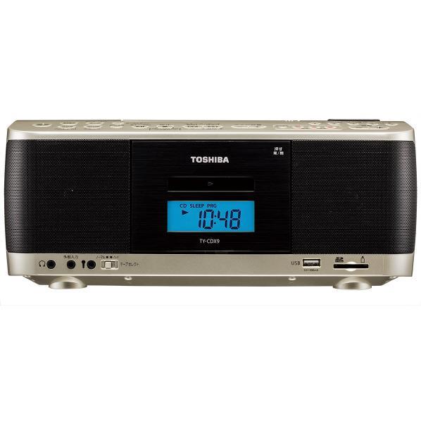 【送料無料】東芝 CDラジオカセットレコーダー サテンゴールド TY-CDX9(N) [TYCDX9N]【RNH】