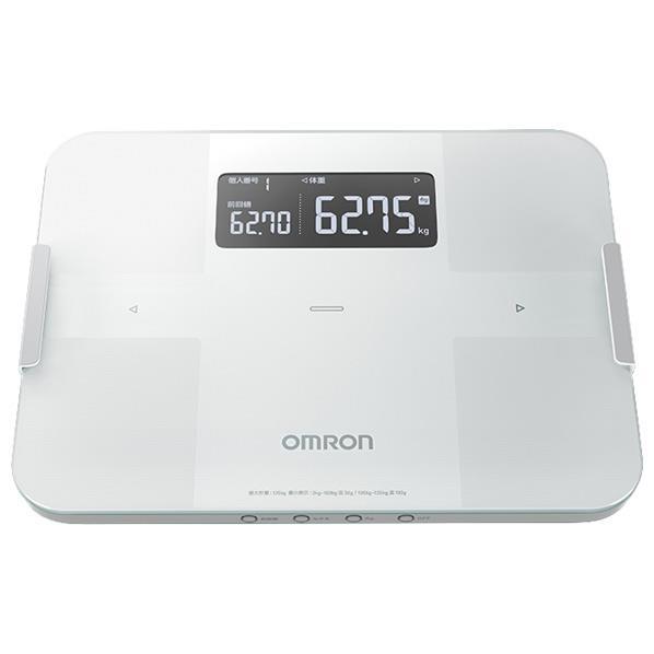 オムロン 体重体組成計 カラダスキャン ホワイト HBF-255T-W [HBF255TW]【RNH】