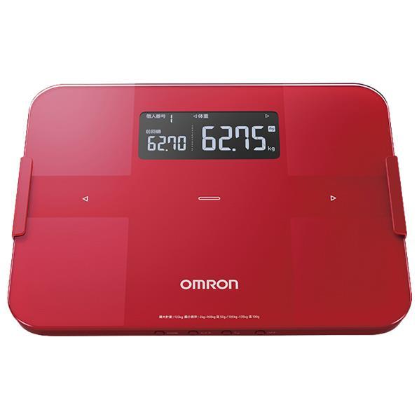 【送料無料】オムロン 体重体組成計 カラダスキャン レッド HBF-255T-R [HBF255TR]【RNH】