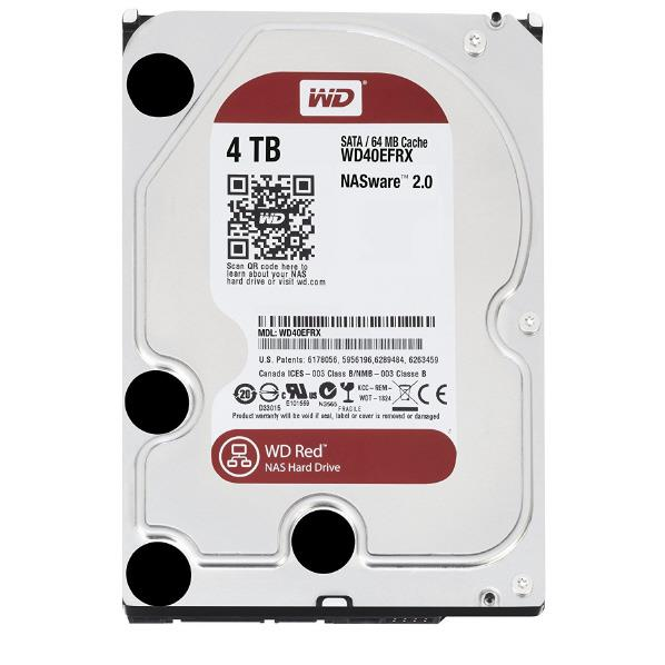 WESTERN 3.5インチ内蔵ハードディスクドライブ(4TB) WD Red WD40EFRX-RT2 [WD40EFRXRT2C]