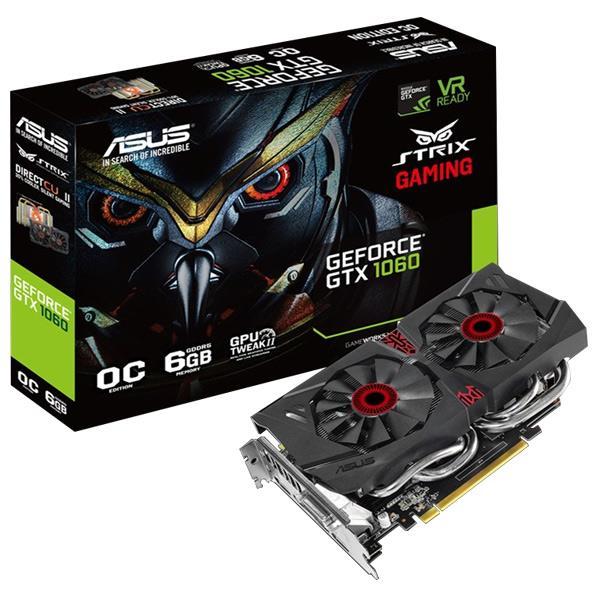 ASUSTEK NVIDIA Geforce ファンレスGTX1060搭載グラフィックボード ROG STRIX STRIX-GTX1060-DC2O6G [STRIXGTX1060DC2O6G]