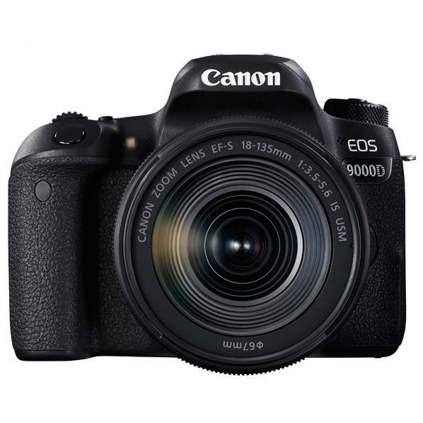 キヤノン デジタル一眼レフカメラ・EF-S 18-135 IS USM レンズキット EOS 9000D ブラック EOS9000D18135ISUSMLK [EOS9000D18135ISUSMLK]【RNH】【SYBN】【OCTH】【WEPT】