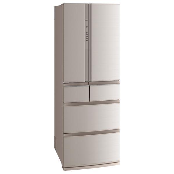 三菱 461L 6ドアノンフロン冷蔵庫 置けるスマート大容量 フローラル MR-RX46A-F [MRRX46AF]【RNH】【OCFH】