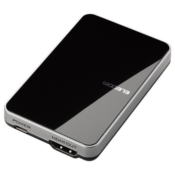 スマートフォンやPCの画面をワイヤレスでテレビの大画面に映し出せるMiracastレシーバ エレコム 贈与 Miracastレシーバ ブラック LDTMRC02C LDT-MRC02 SSPT 当店一番人気 C