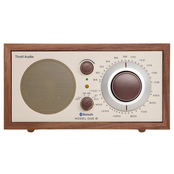 Tivoli Audio モノラルテーブルラジオ Model One BT クラシックウォールナット/ベージュ M1BT-1652-JP [M1BT1652JP]【JNSP】