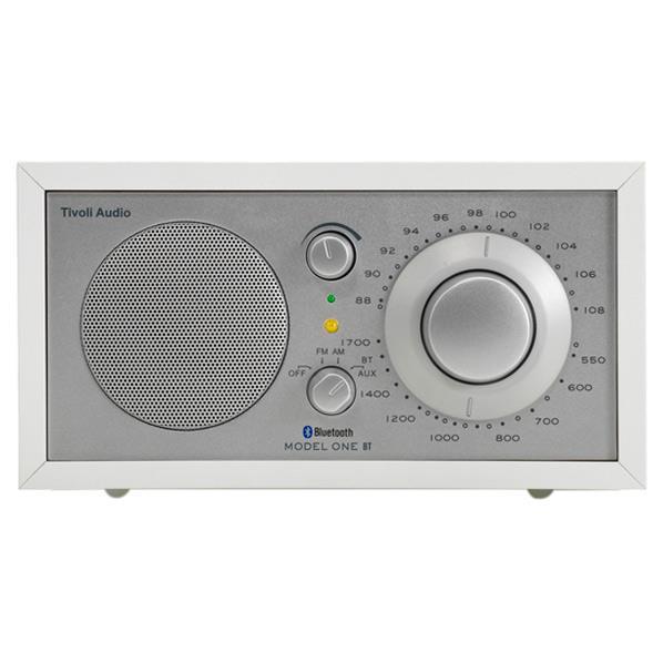 Tivoli Audio モノラルテーブルラジオ Model One BT ホワイト/シルバー M1BT-1770-JP [M1BT1770JP]