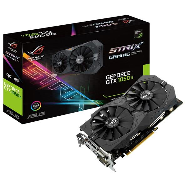 ASUSTEK グラフィックカード NIVIDIA GeForce GTX1050Ti チップセット搭載 GDDR5 4GB ROG STRIXシリーズ STRIXGTX1050TIO4GGAMING [STRIXGTX1050TIO4GGAMING]