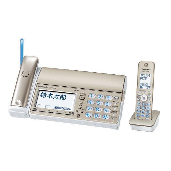 パナソニック デジタルコードレスFAX(子機1台付き) おたっくす シャンパンゴールド KX-PZ710DL-N [KXPZ710DLN]【RNH】