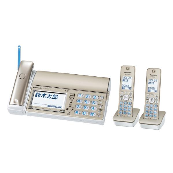 パナソニック デジタルコードレスFAX(子機2台付き) おたっくす シャンパンゴールド KX-PZ710DW-N [KXPZ710DWN]【RNH】