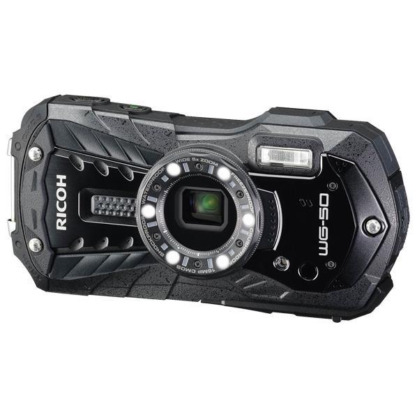 【送料無料】リコー デジタルカメラ ブラック WG-50 BK [WG50BK]【RNH】