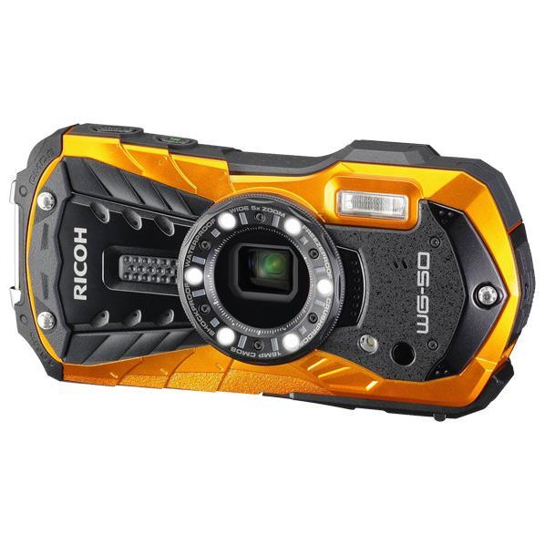 リコー デジタルカメラ オレンジ WG-50 OR [WG50OR]【RNH】