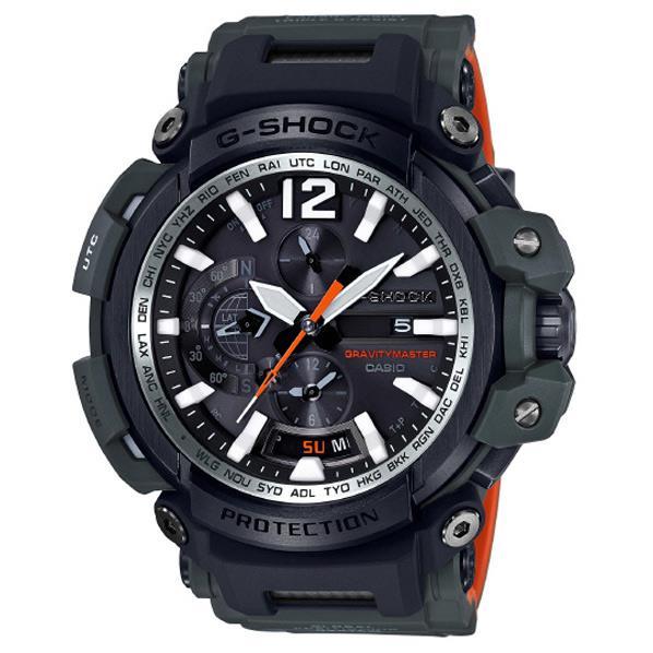 カシオ GPSソーラー電波腕時計 G-SHOCK オリーブグリーン×オレンジ GPW-2000-3AJF [GPW20003AJF]