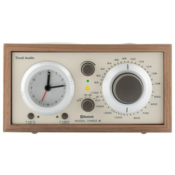 Tivoli Audio アラームクロック付き AM/FMテーブルラジオ Model Three BT クラシックウォールナット/ベージュ M3BT-1773-JP [M3BT1773JP]