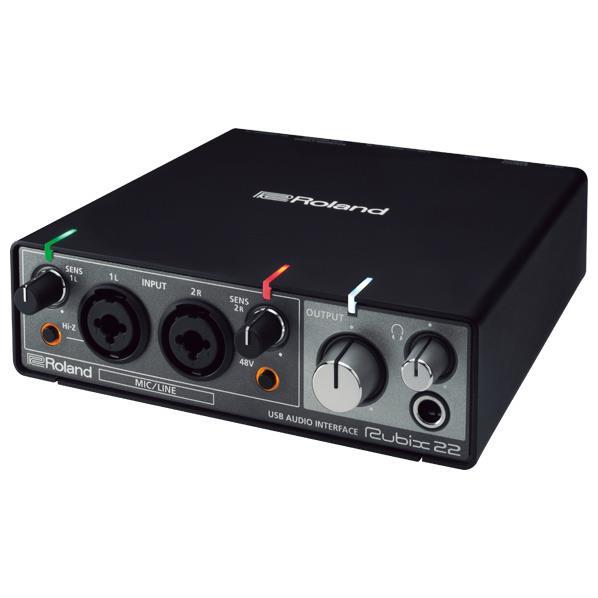 ローランド USBオーディオ・インターフェース RUBIX ブラック RUBIX22 [RUBIX22]【MMARP】