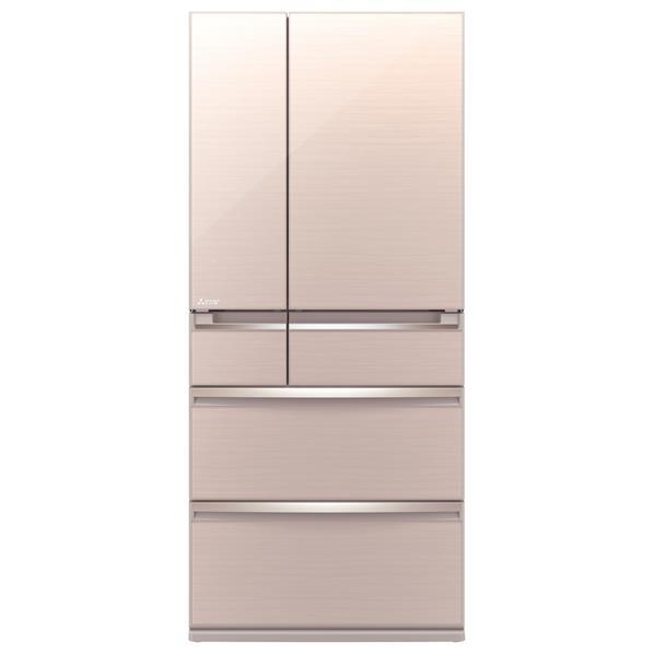 【送料無料】三菱 700L 6ドアノンフロン冷蔵庫 置けるスマート大容量 クリスタルフローラル MR-WX70C-F [MRWX70CF]【RNH】