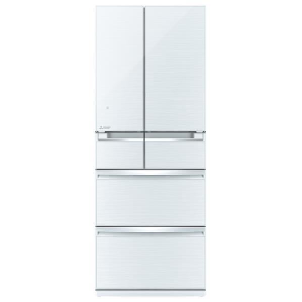 【送料無料】三菱 470L 6ドアノンフロン冷蔵庫 置けるスマート大容量 クリスタルホワイト MR-WX47LC-W [MRWX47LCW]【RNH】