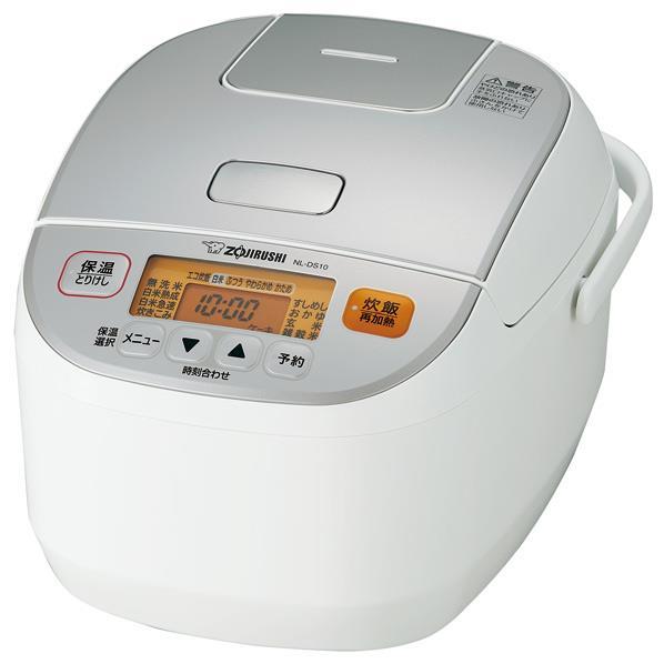 象印 マイコン炊飯ジャー(5.5合炊き) 極め炊き ホワイト NL-DS10-WA [NLDS10WA]【RNH】