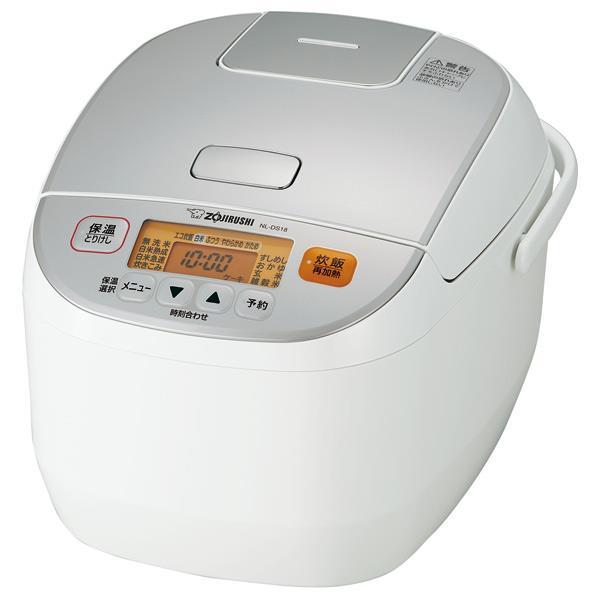 象印 マイコン炊飯ジャー(1升炊き) 極め炊き ホワイト NL-DS18-WA [NLDS18WA]【RNH】