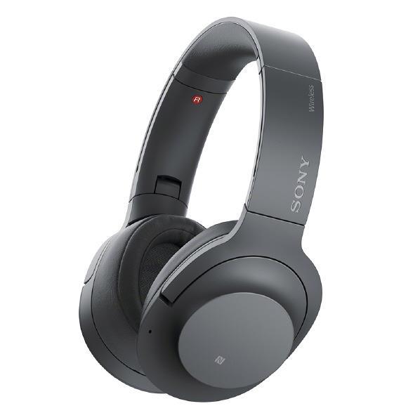 【送料無料】SONY ワイヤレスノイズキャンセリングステレオヘッドセット h.ear on 2 Wireless NC グレイッシュブラック WH-H900N B [WHH900NB]【RNH】