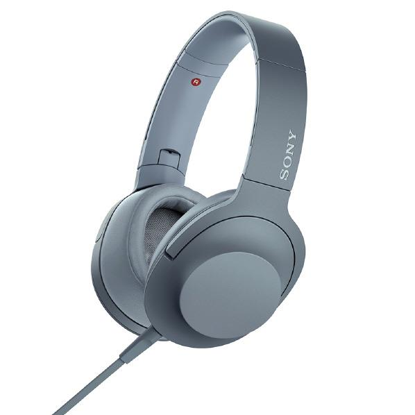 SONY ステレオヘッドフォン h.ear on 2 ムーンリットブルー MDR-H600A L [MDRH600AL]【RNH】