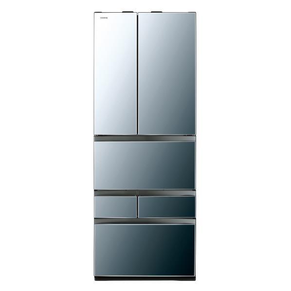東芝 601L 6ドアノンフロン冷蔵庫 VEGETA ダイヤモンドミラー GRM600FWXX [GRM600FWXX]【RNH】