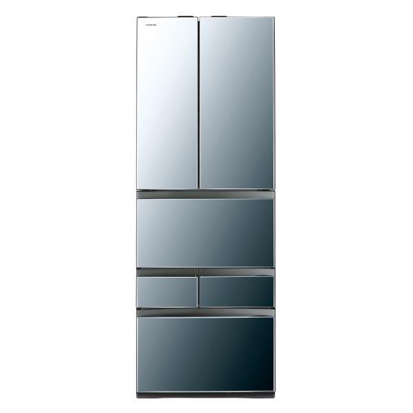 【送料無料】東芝 462L 6ドアノンフロン冷蔵庫 VEGETA ダイヤモンドミラー GRM460FWXX [GRM460FWXX]【RNH】