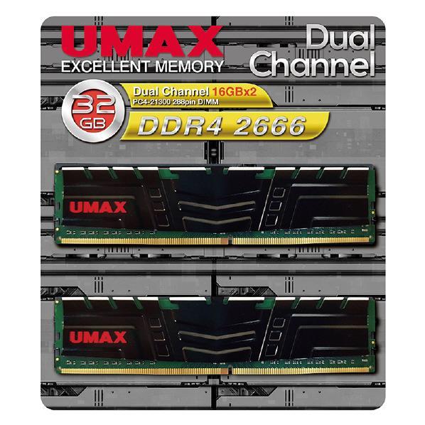 【送料無料】UMAX デスクトップ用メモリ(32GB) DCDDR4-2666-32GB HS [DCDDR4266632GBHS]