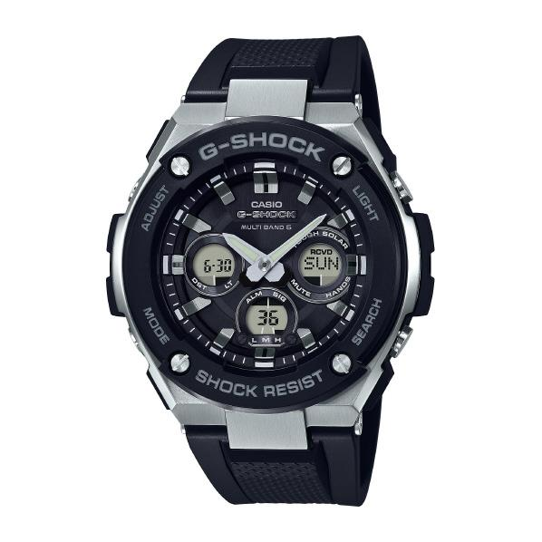 カシオ GST-W300-1AJF ソーラー電波腕時計 [GSTW3001AJF] G-SHOCK G-SHOCK ブラック GST-W300-1AJF [GSTW3001AJF], にこにこテントシート安心shop:811790b0 --- gallery-rugdoll.com