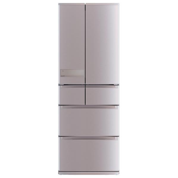 【送料無料】三菱 517L 6ドアノンフロン冷蔵庫 置けるスマート大容量 ローズゴールド MR-JX52C-N [MRJX52CN]【RNH】