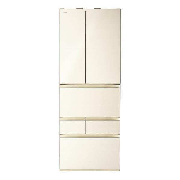 東芝 551L 6ドアノンフロン冷蔵庫 VEGETA ラピスアイボリー GRM550FWZC [GRM550FWZC]【RNH】