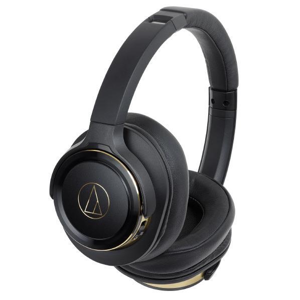 オーディオテクニカ ワイヤレスヘッドフォン SOLID BASS ブラックゴールド ATH-WS660BT BGD [ATHWS660BTBGD]【RNH】