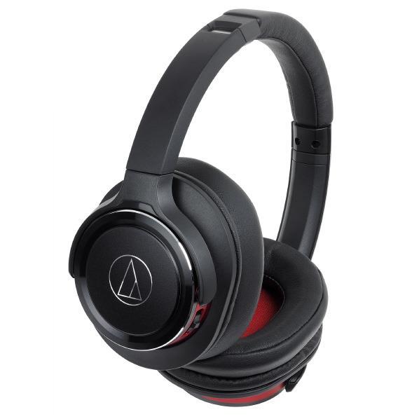 オーディオテクニカ ワイヤレスヘッドフォン SOLID BASS ブラックレッド ATH-WS660BT BRD [ATHWS660BTBRD]【RNH】【JNSP】