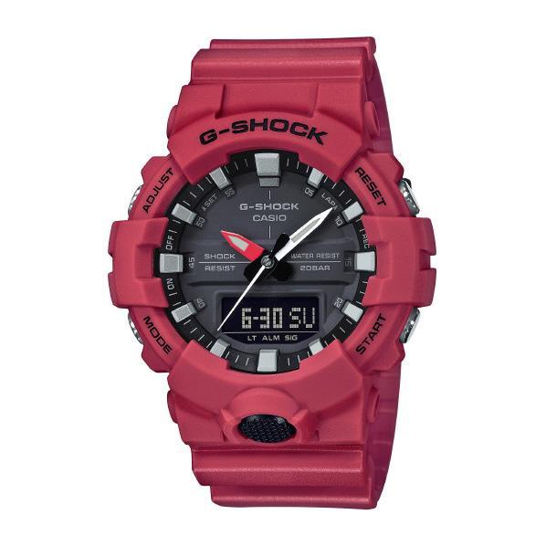 カシオ 腕時計 G-SHOCK レッド GA-800-4AJF [GA8004AJF]