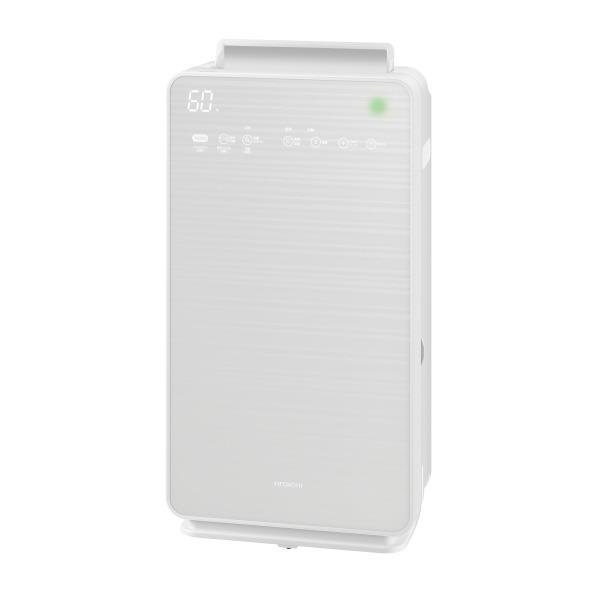 日立 加湿空気清浄機 自動おそうじ クリエア パールホワイト EP-NVG90W [EPNVG90W]【RNH】