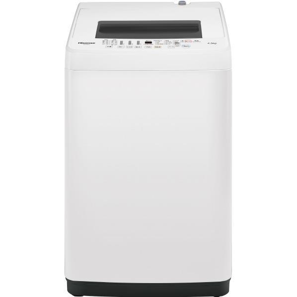 【送料無料】ハイセンス 4.5kg全自動洗濯機 オリジナル ホワイト HW-E4502 [HWE4502]【RNH】