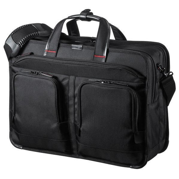 サンワサプライ エグゼクティブビジネスバッグPRO(15.6インチワイド・大型ダブル) ブラック BAG-EXE9 [BAGEXE9]