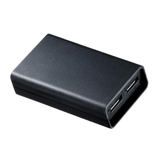 サンワサプライ DisplayPort MSTハブ(DisplayPort×2) ブラック AD-MST2DP [ADMST2DP]