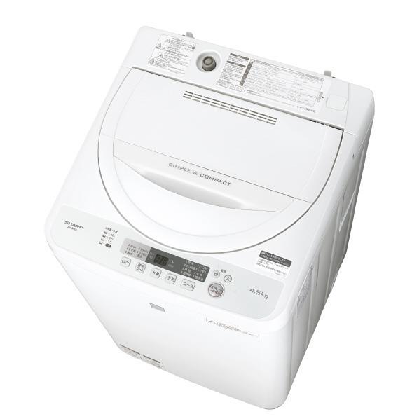 【送料無料】シャープ 4.5kg全自動洗濯機 keyword キーワードホワイト ESG4E5KW [ESG4E5KW]【RNH】