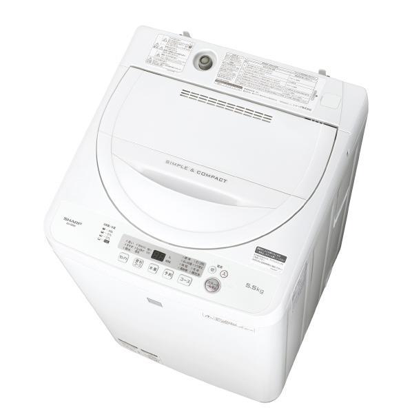 シャープ 5.5kg全自動洗濯機 keyword キーワードホワイト ESG5E5KW [ESG5E5KW]【RNH】【NOZSD】【MRPT】