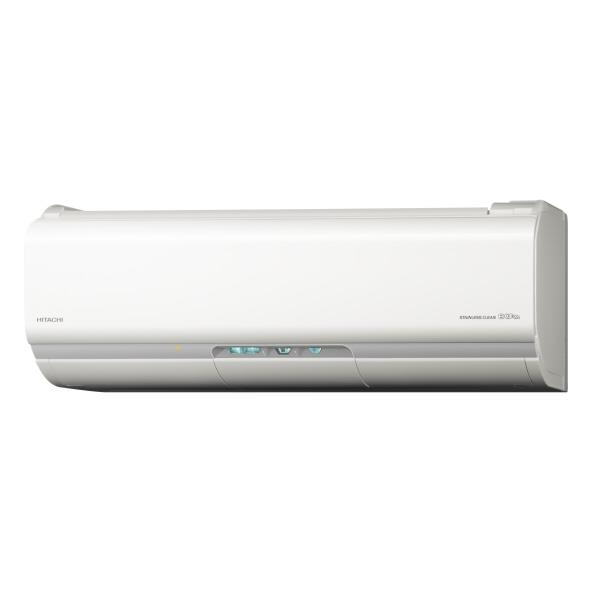 【標準設置工事費込み】日立 8畳向け 自動お掃除付き 冷暖房インバーターエアコン KuaL ステンレス・クリーン 白くまくん スターホワイト RASJT25HE6WS [RASJT25HE6WS]【RNH】