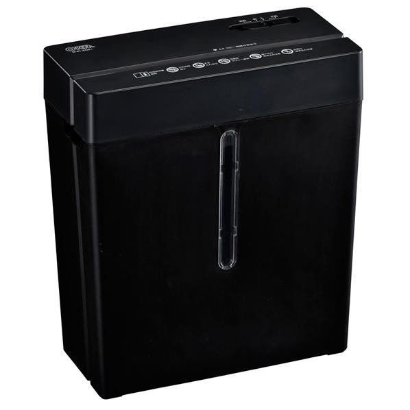 コピー用紙最大5枚細断 高品質新品 オーム電機 セール特別価格 クロスカットシュレッダー 5×37mm ブラック SHRX581 SHR-X581